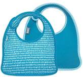 Built NY 2 Piece Mess Mate Infant Bib, In Dribble Dots Blue by NY