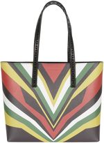 Elena Ghisellini Multicolor Print miky Tiger Shoppin Bag