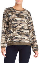 Honey Punch Camouflage Distressed Sweatshirt