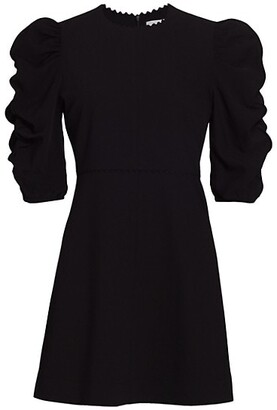 See by Chloe Ruched Puff-Sleeve A-Line Dress