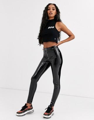 Sixth June zip front leggings in vinyl