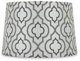 Bed Bath & Beyond Mix & Match Medium 15-Inch Two-Tone Screen Printed Lamp Shade in Silver/White