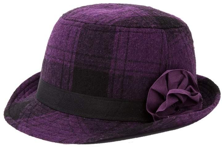 fd362d12d5a2 Q&Y YQ Women's Classic Vintage Trilby Fedora Hats Size M Check