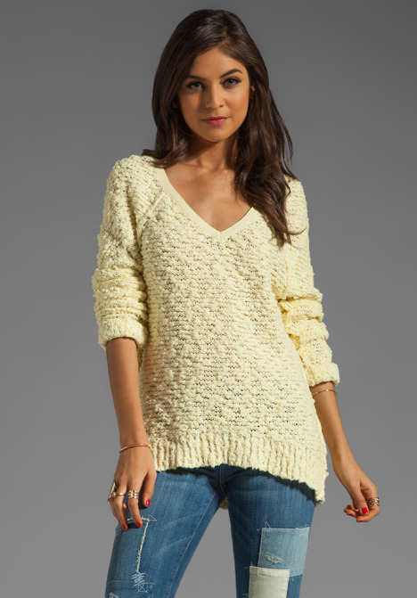 Free People Shaggy Bear Songbird Pullover