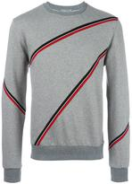 Christian Dior stripe detail sweatshirt