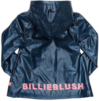 Billieblush Glittered Raincoat W/ Hood
