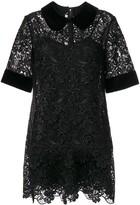 Dolce & Gabbana lace detail collared dress