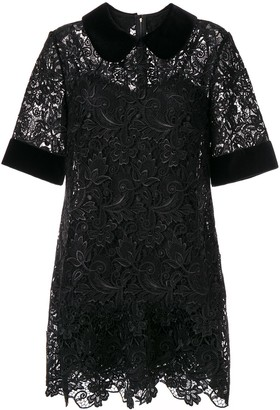 Dolce & Gabbana Lace Detail Collared Dress