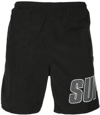 Supreme logo applique water shorts