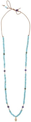 Musa By Bobbie - Diamond & 14kt Gold-charm Beaded Necklace - Blue