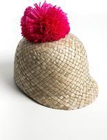 Federica Moretti Federicamoretti Pompom Straw Hat