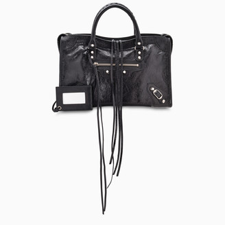 Balenciaga Black/Silver Classic City S bag