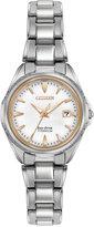 Citizen Women's Eco-Drive Silver-Tone Titanium Bracelet Watch 28mm EW2410-54A