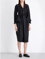 Comme des Garcons Strap-detail twill coat