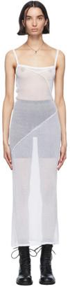 Ann Demeulemeester White Sheer Foggy Knitted Slip Dress