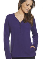 Jockey Womens Long Sleeve Henley w/Pocket