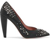 RED Valentino Embellished Leather Pumps