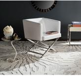 Safavieh Celine White Bonded Leather Arm Chair