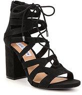 Steve Madden Gal Suede Ankle Tie Block Heel Dress Sandals