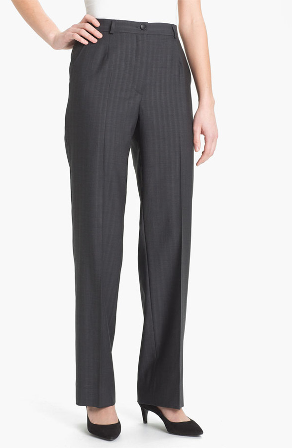 Zanella 'Goldie' Tonal Stripe Wool Pants