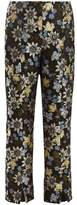 Erdem Syrah floral-jacquard cropped trousers