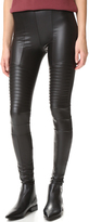 Plush Fleece Lined Liquid Moto Leggings