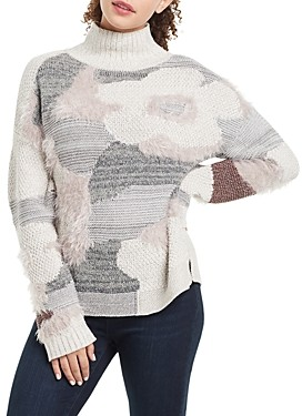 Nic+Zoe Fluffy Florals Sweater