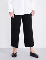 Theory Genie wide-leg crepe trousers