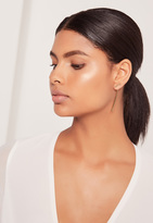 Missguided Drop Detail Earrings Gold
