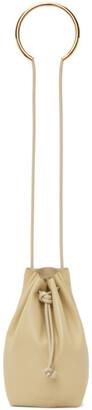 Jil Sander Brown Small Metal Bracelet Drawstring Bag