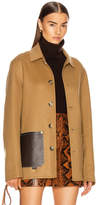 Loewe Button Jacket Patch Pockets in Camel | FWRD