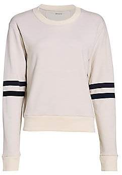 Splits59 Women's Mia Stripe-Sleeve Sweatshirt