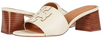 Tory Burch Ines 55 mm Slide (Perfect Black/Silver) Women's Shoes