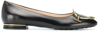 Tod's metal detailed ballerinas