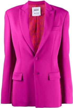 Emilio Pucci x Koche lace panel blazer jacket