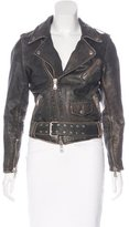 Lot 78 Lot78 Leather Moto Jacket