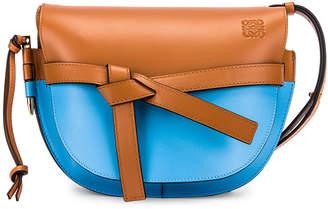 Loewe Gate Small Bag in Tan & Sky Blue | FWRD