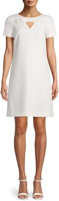 Anne Klein Keyhole Bow Front Shift Dress