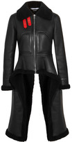 Givenchy Asymmetric Shearling Coat - Black