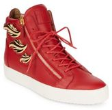 Giuseppe Zanotti Triple Wing Leather High-Top Sneakers