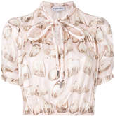 Carven sheep print cropped shirt