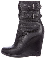 Givenchy Embossed Wedge Ankle Boots