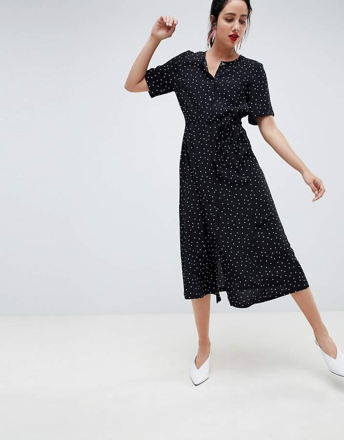 Gestuz polka dot long shirt dress