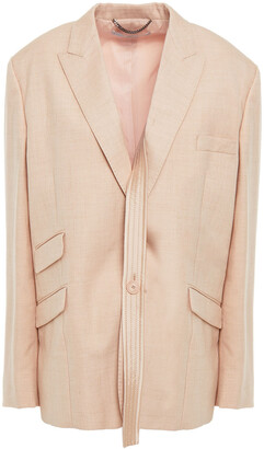 Stella McCartney Felisha Strap-detailed Canvas Blazer