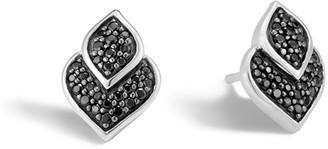 John Hardy Legends Naga Silver Stud Earrings with Black Sapphire & Black Spinel