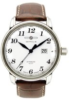 Zeppelin Men's Automatic Watch LZ127 Graf 76521S with Leather Strap