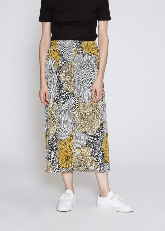 Pleats Please Issey Miyake Paisley Graphite Print Skirt