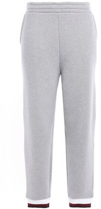Alexander Wang Melange Cotton-blend Fleece Track Pants