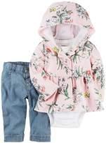 Carter's Baby Girls' 3 Pc Set Bodysuit And Pants