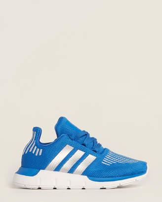 adidas Toddler/Kids Boys) Blue & Silver Swift Run Knit Sneakers